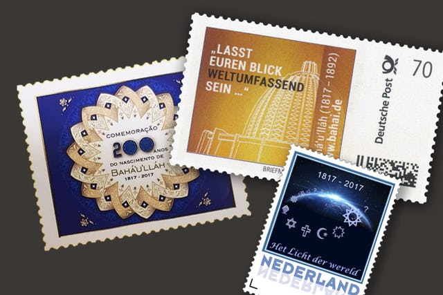 Countries around the world design commemorative Baha'i stamps